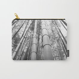 Bamboo Forest Kyoto B&W Carry-All Pouch