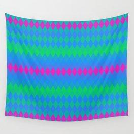 Polysexual Pride Diamond Stripes Pattern Wall Tapestry