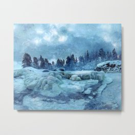 Blue Land Metal Print
