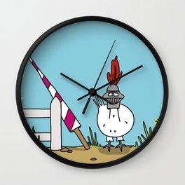 Eglantine la poule (the hen) dressed up as a knight Wall Clock