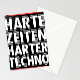 Hard techno rave party trance Stationery Cards