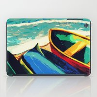 boats iPad Cases featuring Boats by Christina Rowe