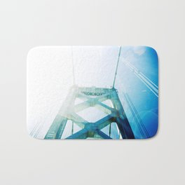 oakland bay bridge  Bath Mat