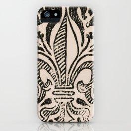 Distressed Fleur-de-Lis iPhone Case