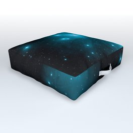Turquoise Blue Galaxy: Pleiades Constellation Outdoor Floor Cushion