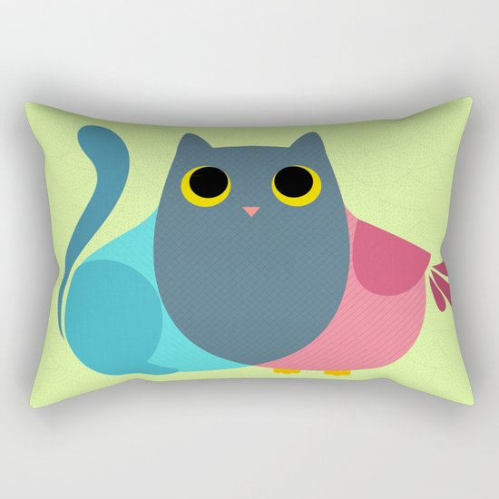 Owlcat Venn Diagram Rectangular Pillow
