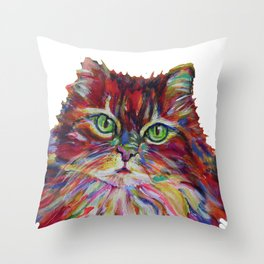Fat Orange Cat Throw Pillow