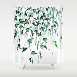 Ivy on the Wall Shower Curtain