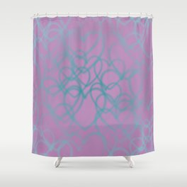 Love, love, love - Hearts all over Shower Curtain
