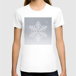 Typographic Snowflake Greetings - Silver Grey T-shirt