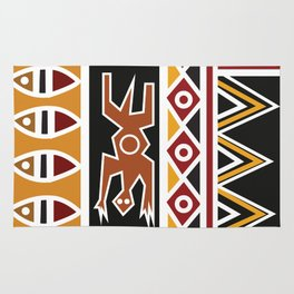 African Tribal Pattern No. 48 Rug