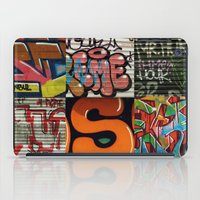 grafitti iPad Cases featuring grafitti collage by laika in cosmos