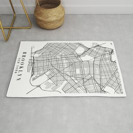 Brooklyn New York Street Map Minimal Rug