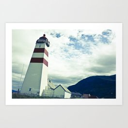 Lighthouse in norway Art Print
