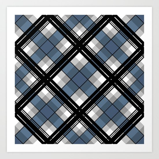 Black and blue tartan by decoli