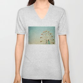 """I see nothing in space as promising as the view from a Ferris wheel."" Unisex V-Neck"