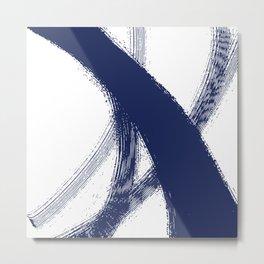 Blue abstract swoosh Metal Print