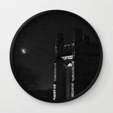 Moon and Tower Wall Clock