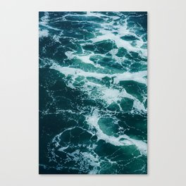 The Water Waves (Color) Canvas Print