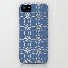 Simply Vintage Link in White Gold Sands and Aegean Blue iPhone Case