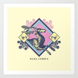 Pastel Gothic Deer Art Print
