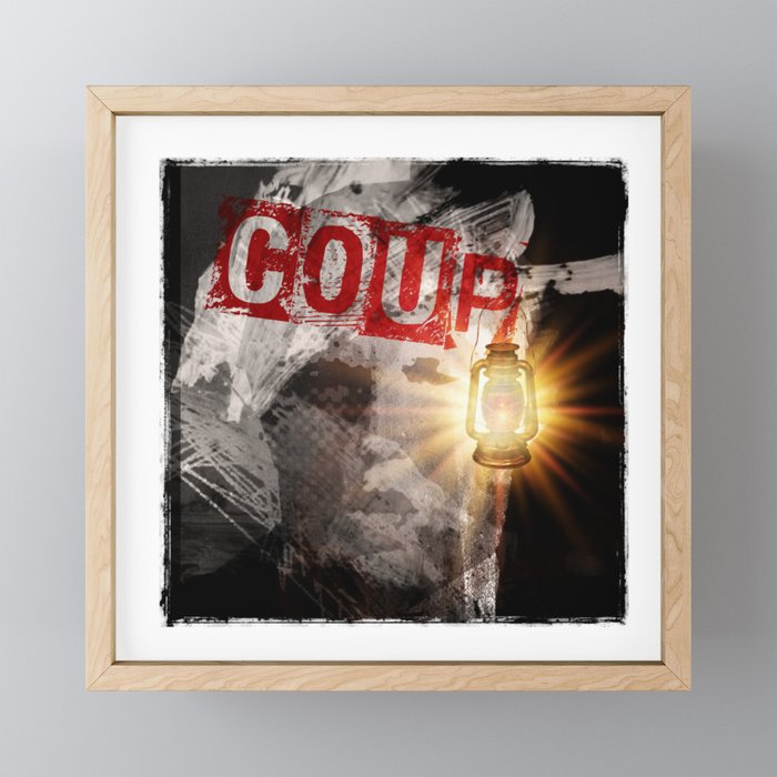 Trump: COUP Framed Mini Art Print