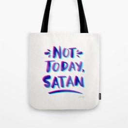 Not Today, Satan – Cyan & Magenta Palette Tote Bag