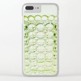 Green Glass Love Clear iPhone Case