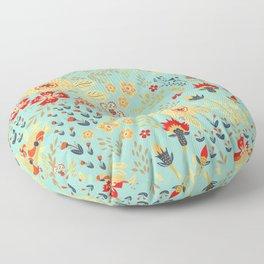 Vintage Blooms Floor Pillow
