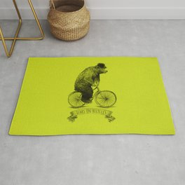 Bears on Bicycles (Lime) Rug