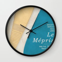 Contempt, Le Mépris, Jean-Luc Godard, Fritz Lang, Brigitte Bardot, french film, new wave, vague Wall Clock