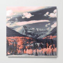 Vibrant mountainous landscape Metal Print