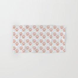Rose Gold Paw Print Pattern Hand & Bath Towel