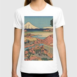 Hokusai Katsushika - The tea plantation Of Katakura In the Suruga province T-shirt