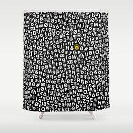 Halcyon Letters Shower Curtain