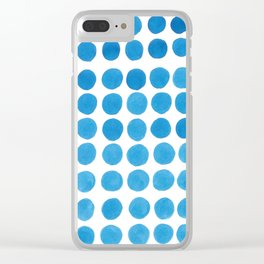 Blue water dots Clear iPhone Case