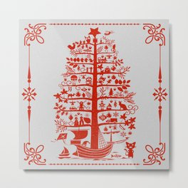 Christmas Tree Ship Metal Print
