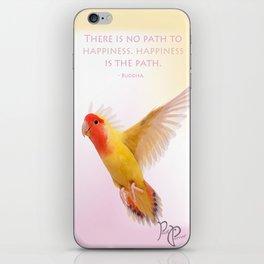 """Posh Parrot """"Happiness- Buddha"""" iPhone Skin"""