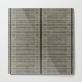 """Simple Oriental Curtains (Light grey)"" Metal Print"