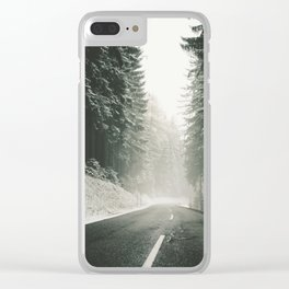 Forest Road In Winter Clear iPhone Case
