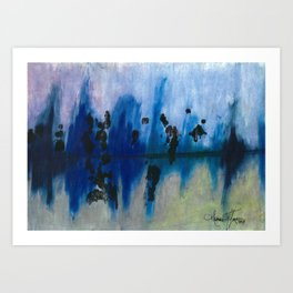 Frosted Reflections  Art Print