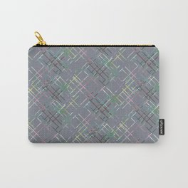 Gray checkered pattern. Carry-All Pouch