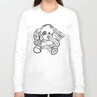 puppy Long Sleeve T-shirts featuring Puppy by Omar Sangiovanni