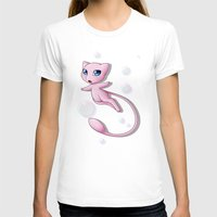 mew T-shirts featuring Mew Bubbles V2 by AngelAito