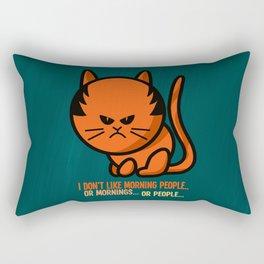 Moody cat Rectangular Pillow