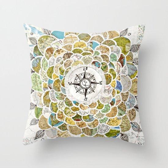 Wanderbloom Throw Pillow