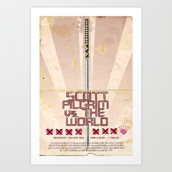 Scott Pilgrim Vs. The World Art Print