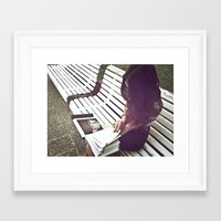 reading Framed Art Prints featuring Reading by Michaëlis Moshe