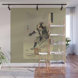 Samurai worrior ukiyoe print Wall Mural