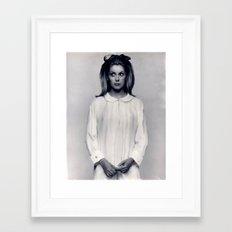 CATHERINE DENEUVE Framed Art Print